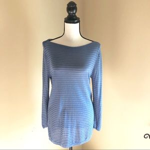LOFT | Blue Long Sleeve Sweater | Size Medium